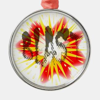 Comic Blast Silver-Colored Round Ornament
