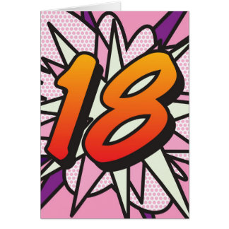 Comic Book 18 Pink Card