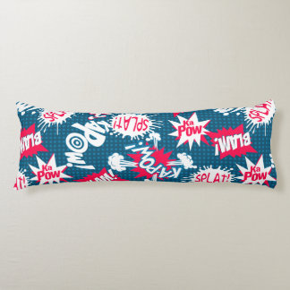 Comic book action words body pillow