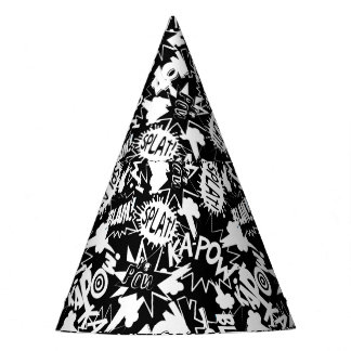 Comic book actions party hat