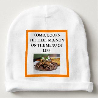 comic book baby beanie