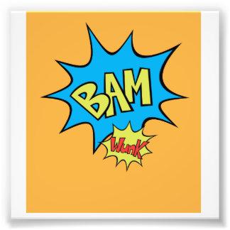 """Comic Book """"Bam"""" Balloon Photographic Print"""