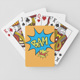 "Comic Book ""Bam"" Balloon Poker Deck"