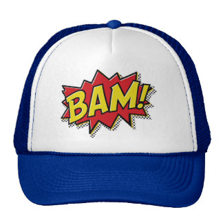 comic book bam! trucker hat