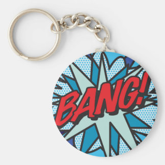 Comic Book BANG! key ring Basic Round Button Keychain