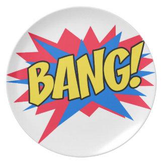 Comic book BANG Plate