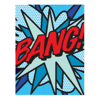 Comic Book BANG! Postcard
