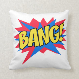 Comic book BANG Throw Pillow