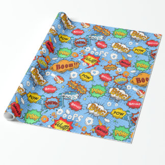 Comic Book Bubbles Wrapping Paper