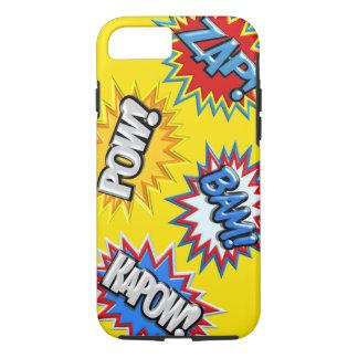 Comic Book Burst Pow 3D iPhone 7 Case