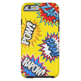 Comic Book Burst Pow 3D Tough iPhone 6 Case