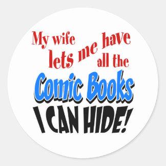 Comic Book Collecting Classic Round Sticker