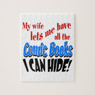 Comic Book Collecting Jigsaw Puzzle