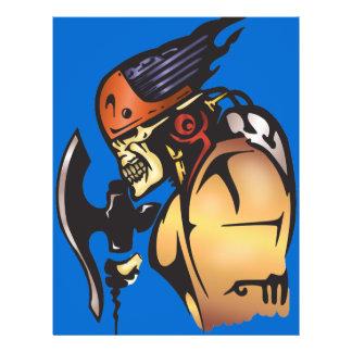 Comic Book Cyborg Skull Warrior Full Colour Flyer