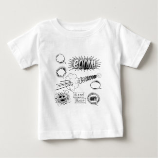 Comic Book Design Elements Baby T-Shirt
