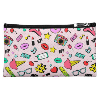 Comic Book, Emoji, Selfie Medium Cosmetic Bag