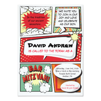 COMIC BOOK FANTASY Bar Mitzvah Invitation