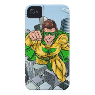 Comic Book Flying Superhero City iPhone 4 Case