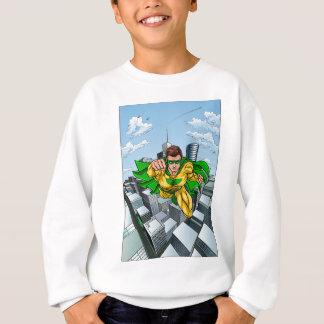 Comic Book Flying Superhero City Sweatshirt