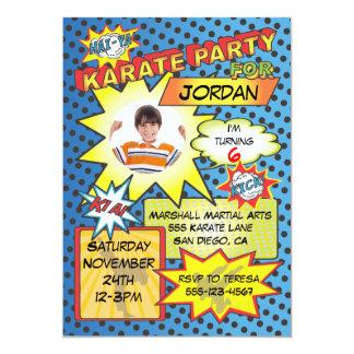 Comic Book Karate Party Invitation