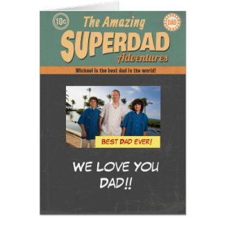 Comic Book Photo Card, Father's Day Birthday Card