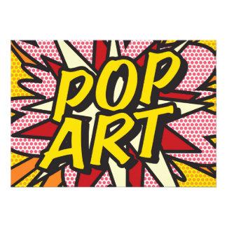 "Comic Book POP ART 5"" X 7"" Invitation Card"