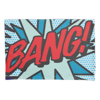 Comic Book Pop Art BANG! POW! double sided Pillowcase