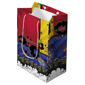 Comic Book Pop Art Birthday Party Colorful Medium Gift Bag