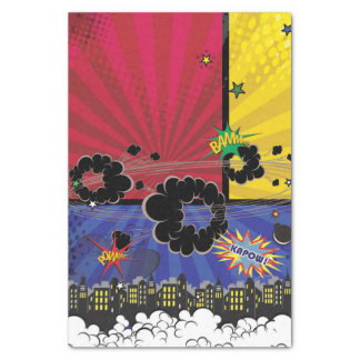 Comic Book Pop Art Birthday Party Colorful Tissue Paper