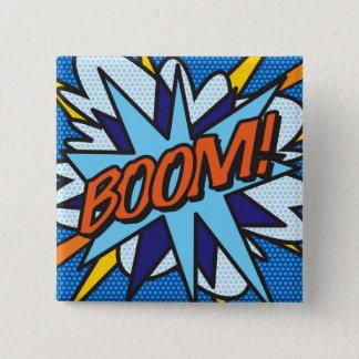 Comic Book Pop Art BOOM! 2 Inch Square Button