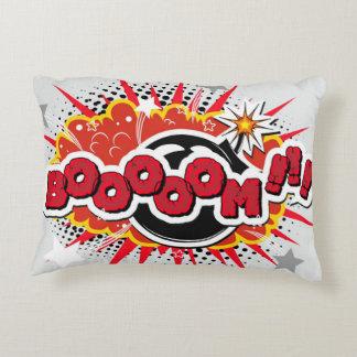 Comic Book Pop Art Boom Explosion Accent Pillow