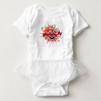 Comic Book Pop Art Boom Explosion Baby Bodysuit