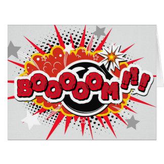 Comic Book Pop Art Boom Explosion Card