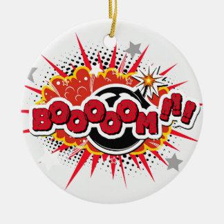 Comic Book Pop Art Boom Explosion Ceramic Ornament