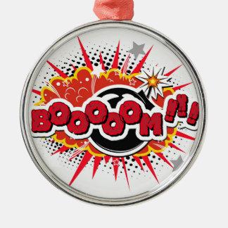 Comic Book Pop Art Boom Explosion Metal Ornament