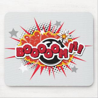 Comic Book Pop Art Boom Explosion Mouse Pad