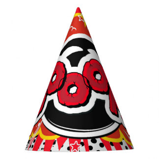 Comic Book Pop Art Boom Explosion Party Hat