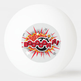 Comic Book Pop Art Boom Explosion Ping Pong Ball
