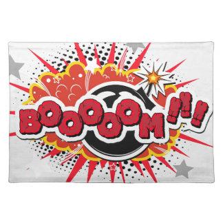 Comic Book Pop Art Boom Explosion Placemat
