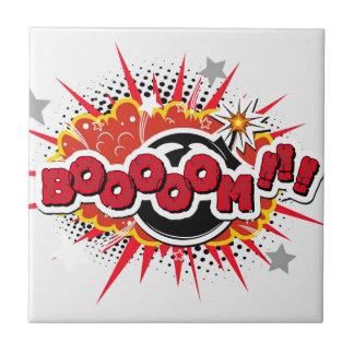 Comic Book Pop Art Boom Explosion Tile