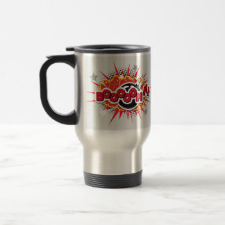 Comic Book Pop Art Boom Explosion Travel Mug