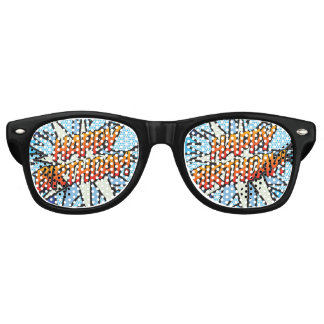Comic Book Pop Art HAPPY BIRTHDAY party Sunglasses