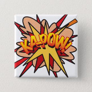 Comic Book Pop Art KA-POW! 2 Inch Square Button