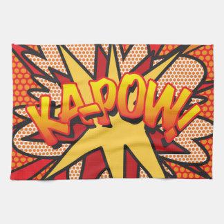 Comic Book Pop Art KA-POW! Kitchen Towel