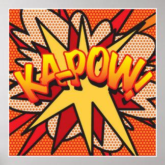 Comic Book Pop Art KA-POW! Poster