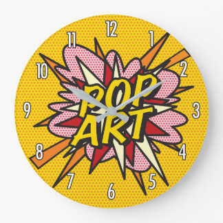 Comic Book Pop Art Large Clock