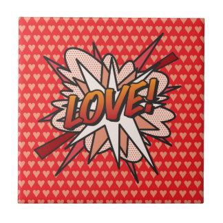 Comic Book pop Art LOVE! Tiles