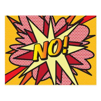 Comic Book Pop Art NO! Postcard