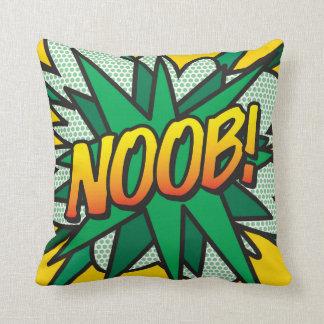 Comic Book Pop Art NOOB! Throw Pillow