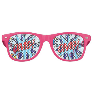 Comic Book Pop Art OMG! party sunglasses